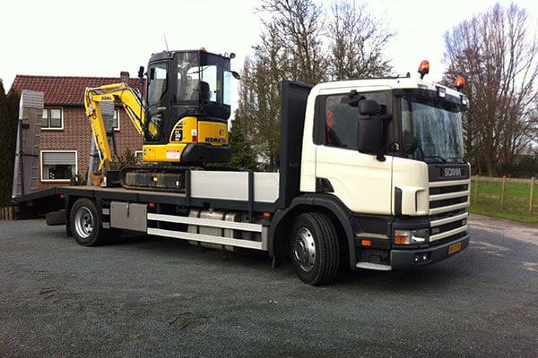 verhuur machines vrachtwagen